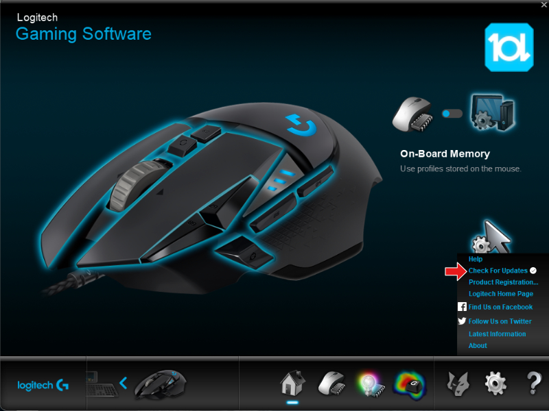 logitech gaming software update
